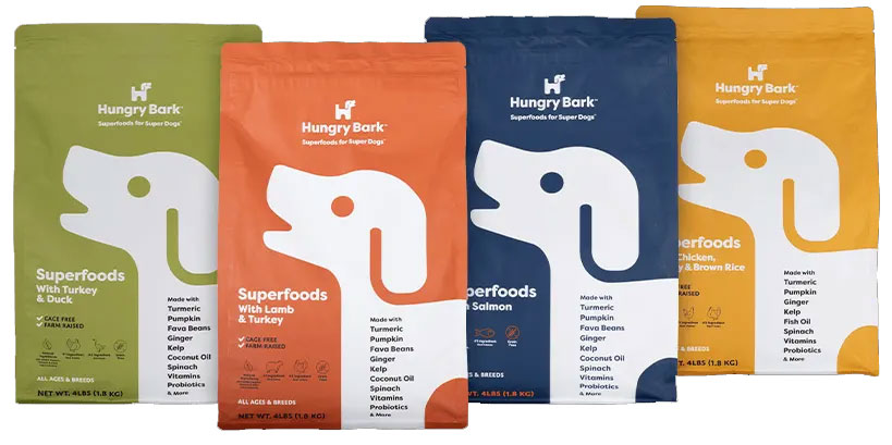HungryBark Dog Food Flavors