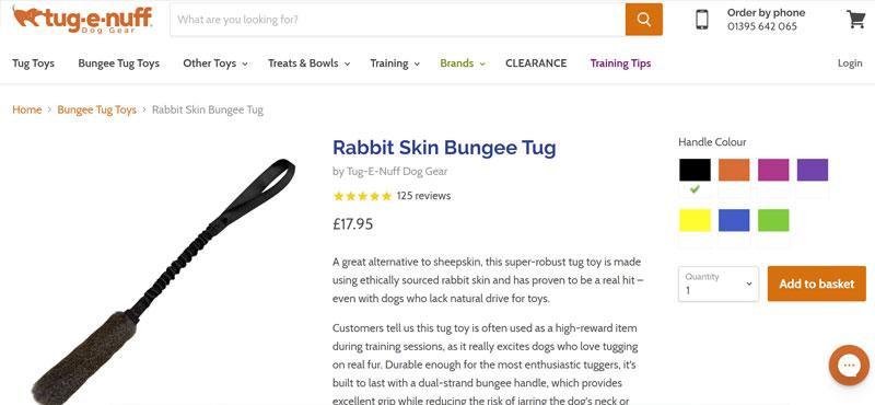 tug-e-nuff rabbit skin bungee